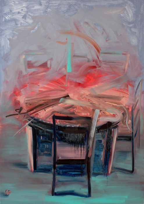 Art by Bartosz Beda, After Table, Interiors, paintings