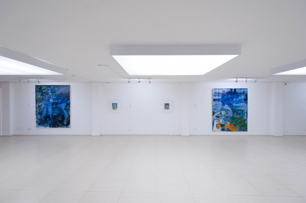 Bartosz Beda exhibit for Image of the Emotion, paintings