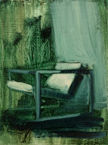 Art by Bartosz Beda, Interior with Chair