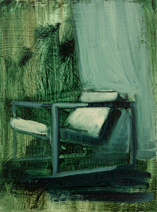 Interior with Chair, bartosz beda paintings 2012