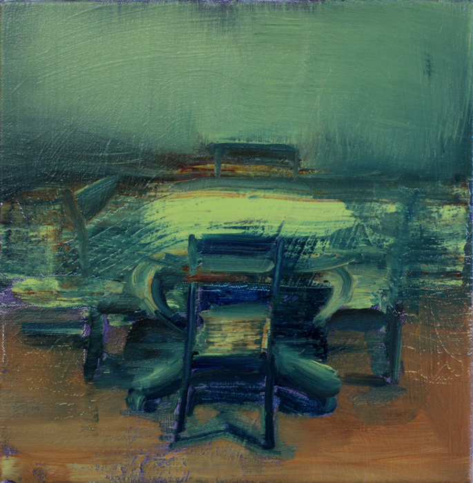 Invisible Table, bartosz beda paintings 2012