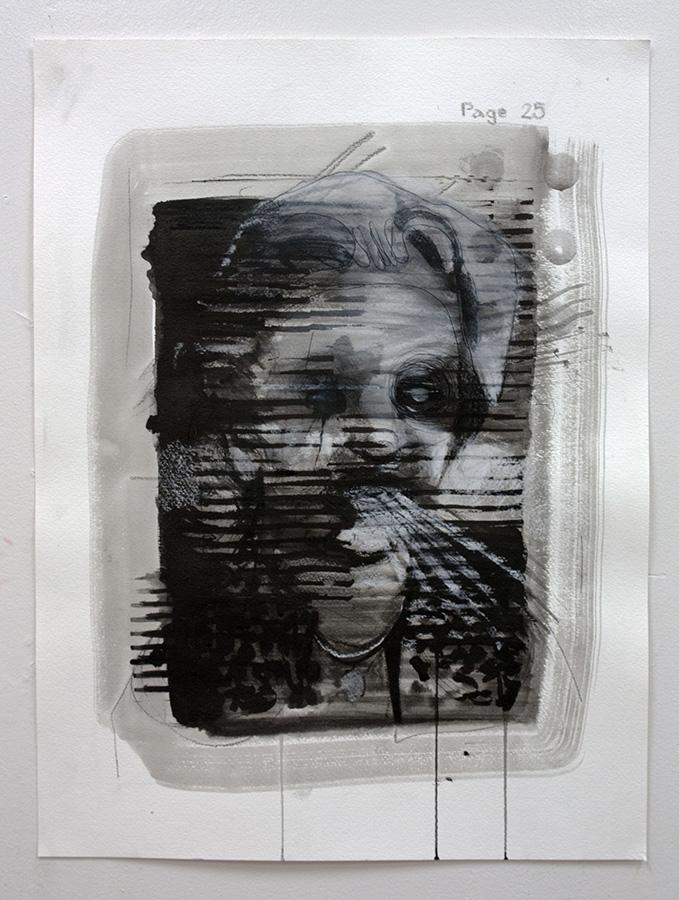 news invigilation II, bartosz beda paintings 2014