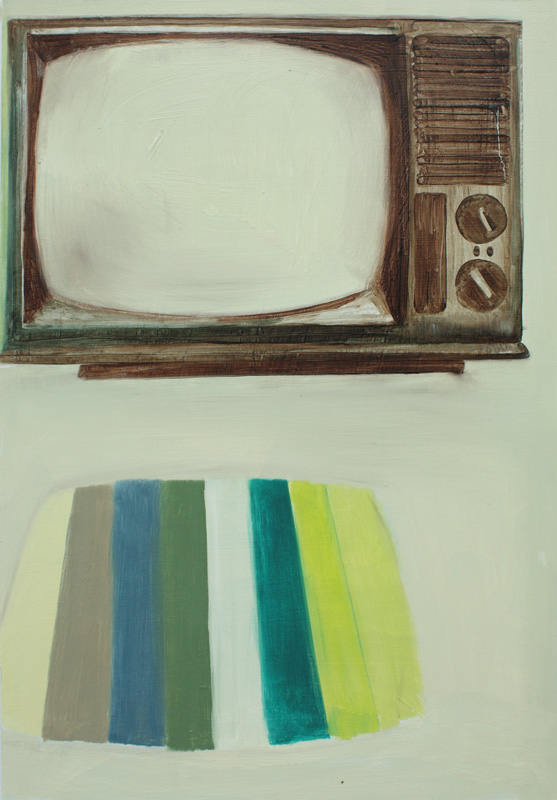 Portrait of TV III, bartosz beda paintings 2012