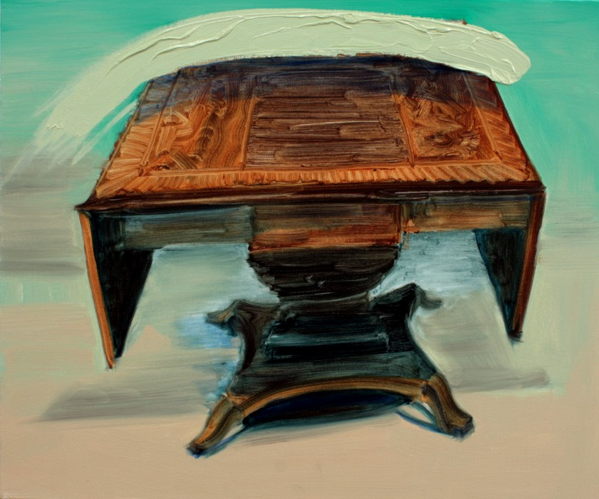 Table and Marks, bartosz beda paintings 2012