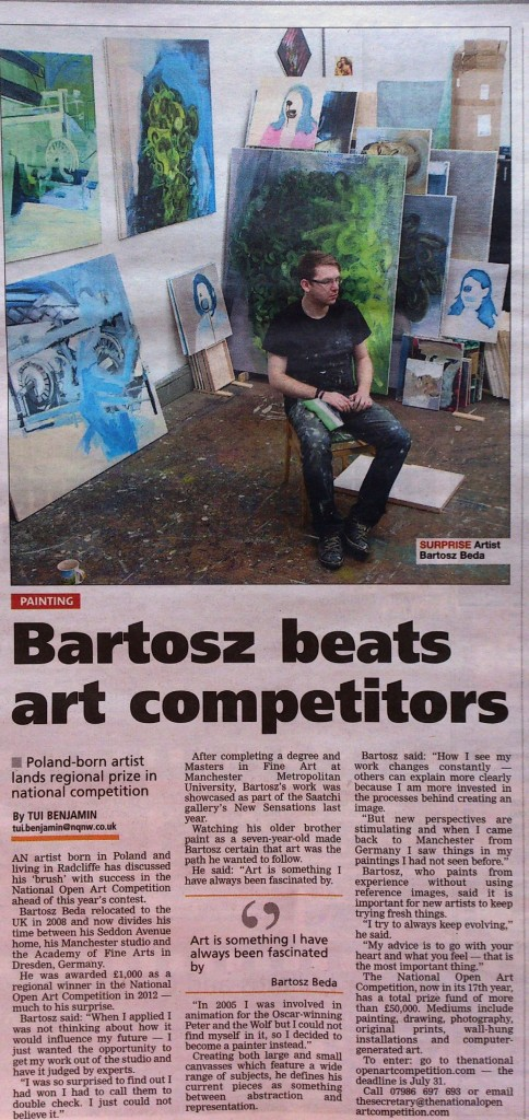 Art by Bartosz Beda, Interview in Radcliffe Times