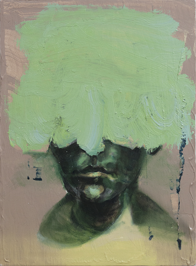 stream face, bartosz beda paintings 2015
