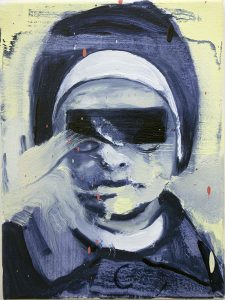Nun II, bartosz beda, paintings 2017, artwork